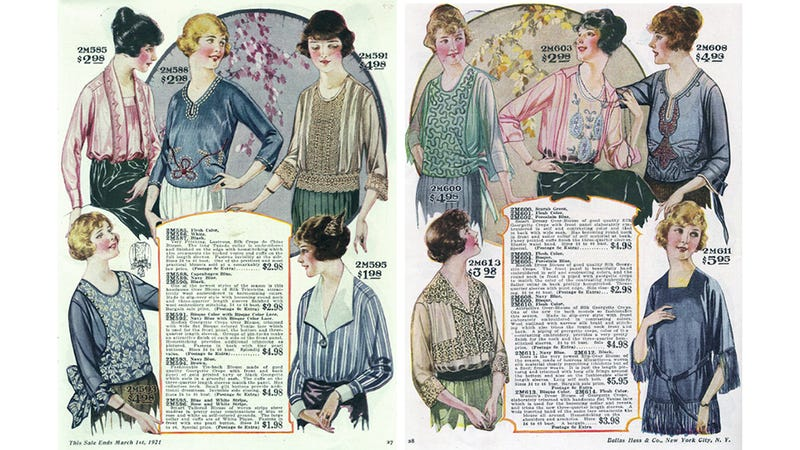Let's Shop For Blouses in the 1920s