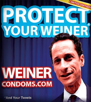 Inevitable Anthony Weiner Condoms On Sale Now