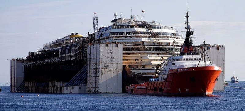 The Wreckage Of The Costa Concordia Is On Its Final Journey Right Now