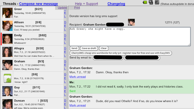 EasySMS Sends Text Messages from Your Android Phone via Your Browser