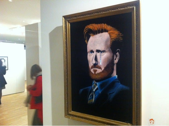 Conan O'Brien Tribute Gallery Recalls van Gogh, Surrealism, Gaming Art