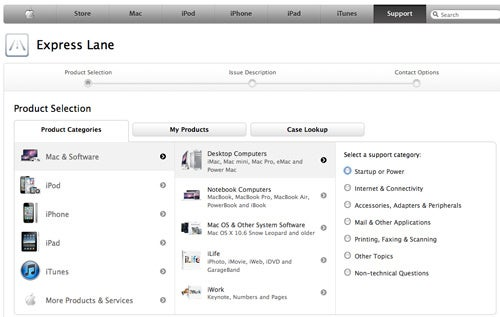 Apple's Express Lane is Their Faster Online Tech Support Service