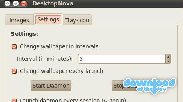 DesktopNova Changes Your Linux Wallpaper At Intervals You Set