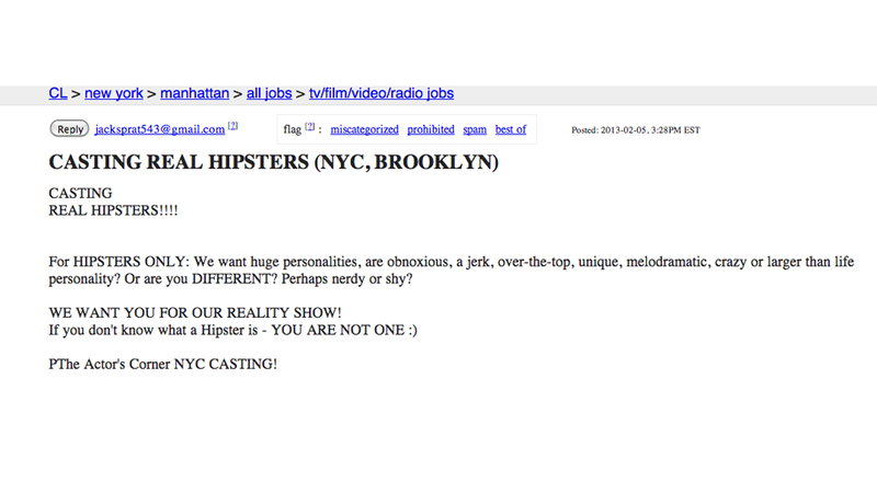 Hilarious Casting Call for Hipsters Describes Every Type of Person