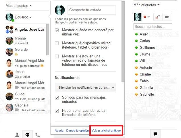 Cómo volver a usar la versión antigua de Google Chat en Gmail