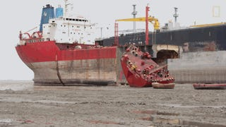 Watch The Grueling And Dangerous Work Involved In Breaking Down A Ship