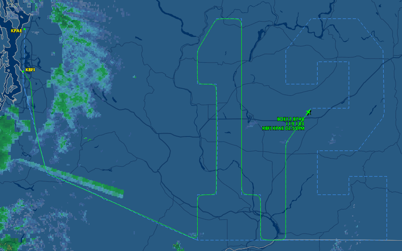 "A Seahawks 747 Is Currently Flying A Giant ""12"" Over Washington State"