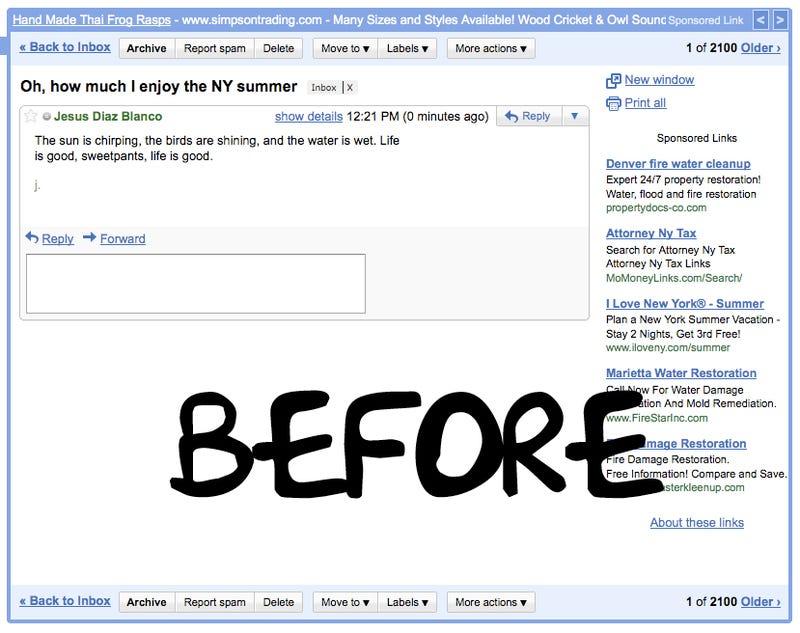 Magic Spell Kills All Ads in Gmail