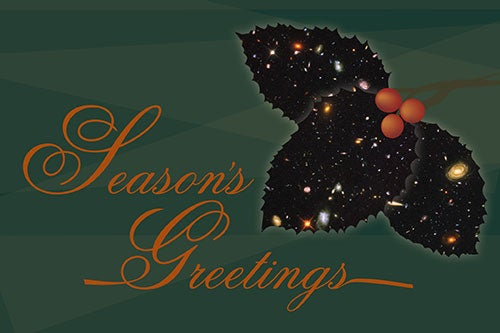 Hubble Celebrates the Holidays with Cosmic Cards