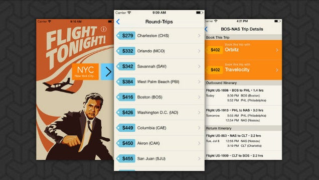 Flight Tonight Books You a Last-Minute Flight On the Go