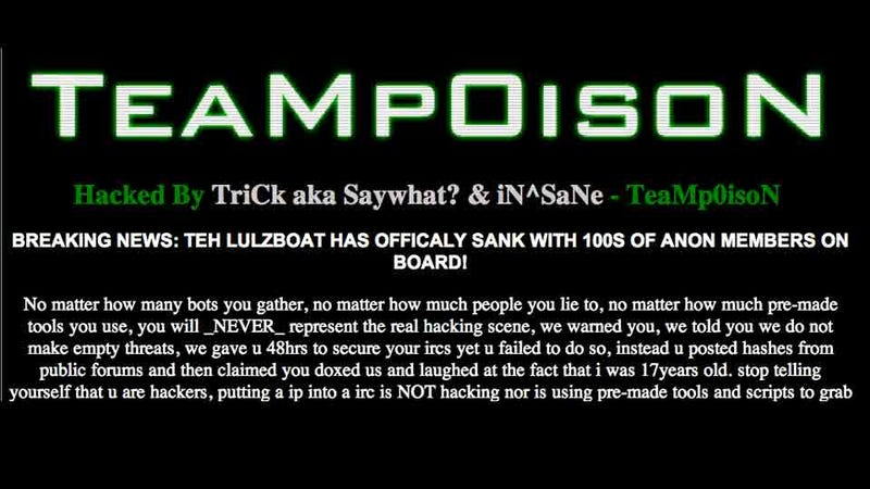 Hacker Vs. Hacker: Rival Group Claims to Hack LulzSec