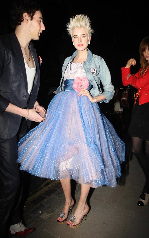Agyness Deyn's Boyfriend & Birthday Dress