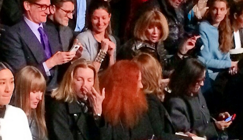 Anna Wintour Takes the Second Row (This Is How the Apocalypse Begins)