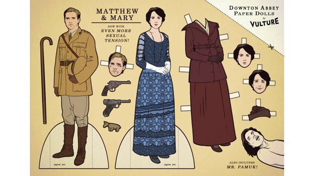 Four Words: Downton Abbey Paper Dolls