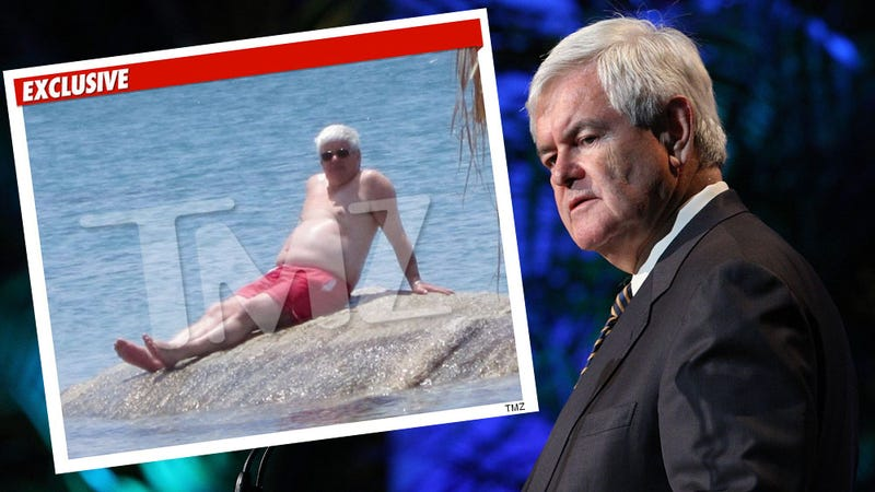 Newt Gingrich's Shirtless Photo Will Haunt You Forever (Updated)