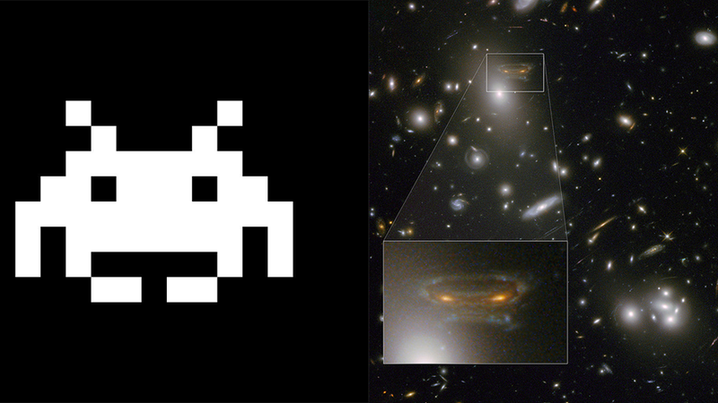 NASA Finds Space Invaders Deep in the Cosmos