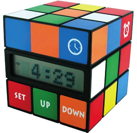 Rubiks Cube Alarm Clock Puts a Twist Into Telling Time