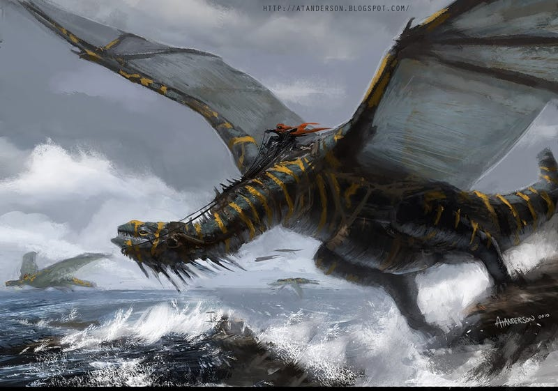 They arrived from the sea, their dragons hissing like the foam on crashed waves