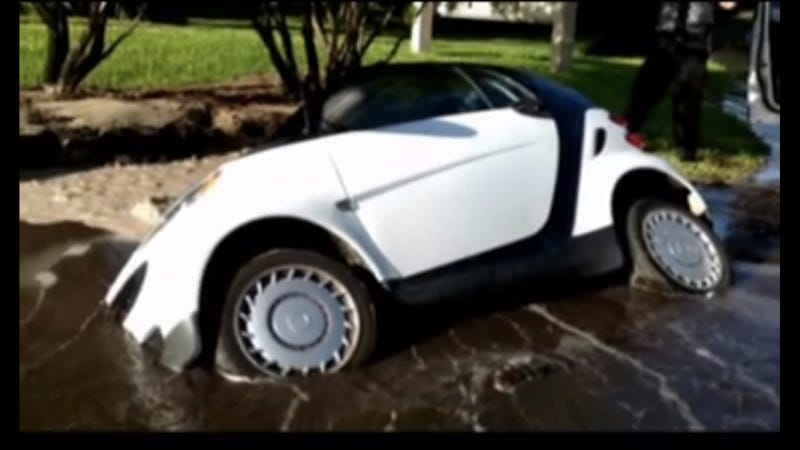 Giant Florida Sinkhole Swallows Tiny Smart Car