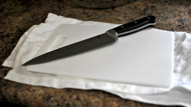 Stabilize a Cutting Board with a Damp Towel