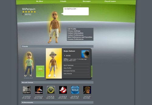 Xbox.com Redesign Puts More Emphasis On the Handsomer, Slimmer Virtual You