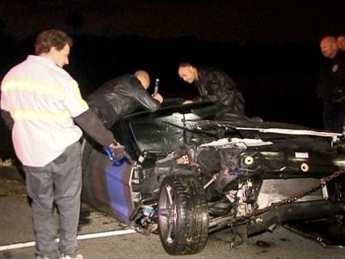 Orange County Corvette Crash: Accident Photos