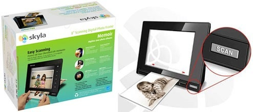 Skyla Memoir Digital Photo Frame Has In-Built Photo Scanner
