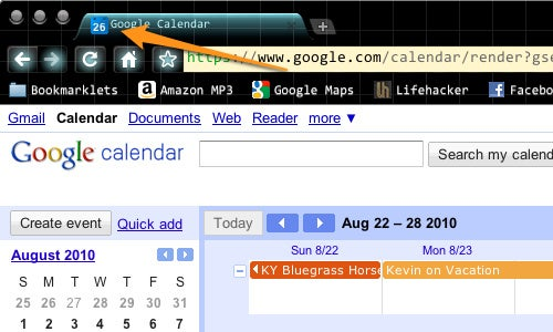 Show the Day's Date in Google Calendar's Favicon with a User Script