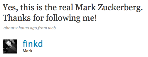 Mark Zuckerberg Outs Himself on Twitter