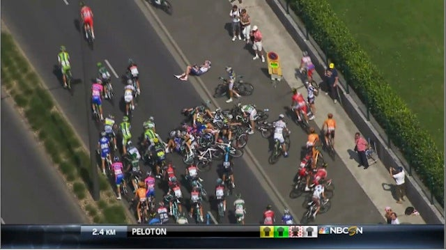 An Estimated 20 Bikes Crashed Near The End Of Today's Tour de France