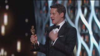 """Stay Weird, Stay Different"": <i>Imitation Game</i> Writer's Oscars Speech"