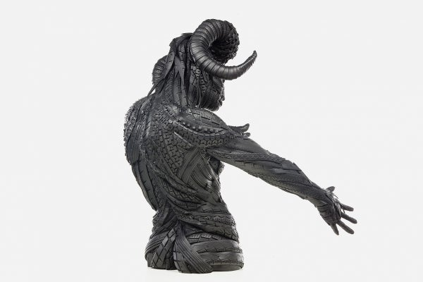 These stunning sculptures are made from recycled tires