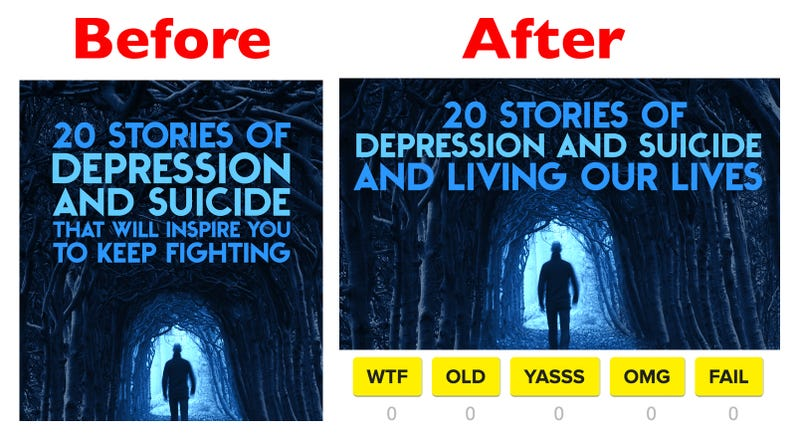 Buzzfeed wisely changes headline on listicle of suicide stories