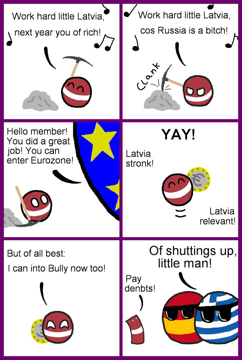 Daily Polandball: Latvia's work pays off