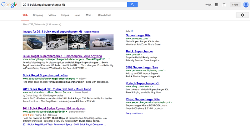 Yes Google, Superchargers and Turbos are obviously the same thing.