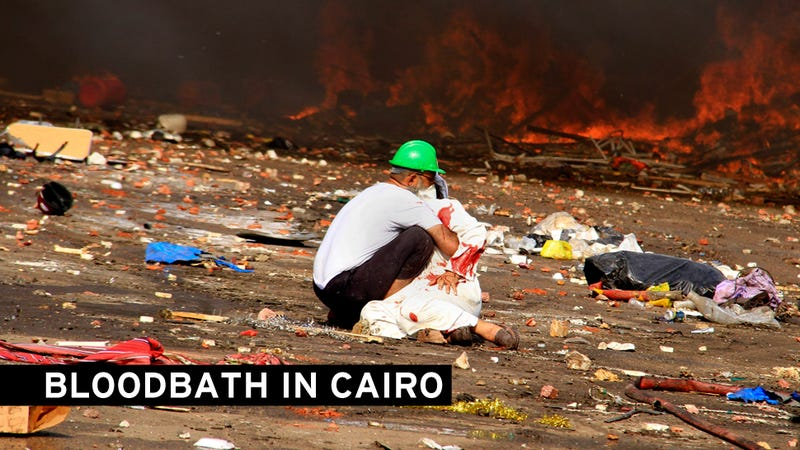 Scores of Cairo Protestors Killed as Army Brutally Clears Sit-In