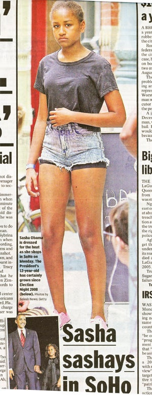 NYDN Site Runs Paparazzi Pic of Sasha Obama's Butt in Jean Shorts