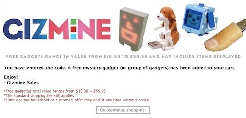 Free Gadgets Using the Konami Code at Gizmine (Again, Free Gadgets)