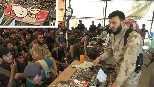 "Do Not Be Fooled by This Syrian Rebel Leader's ""Hello Kitty"" Notebook"