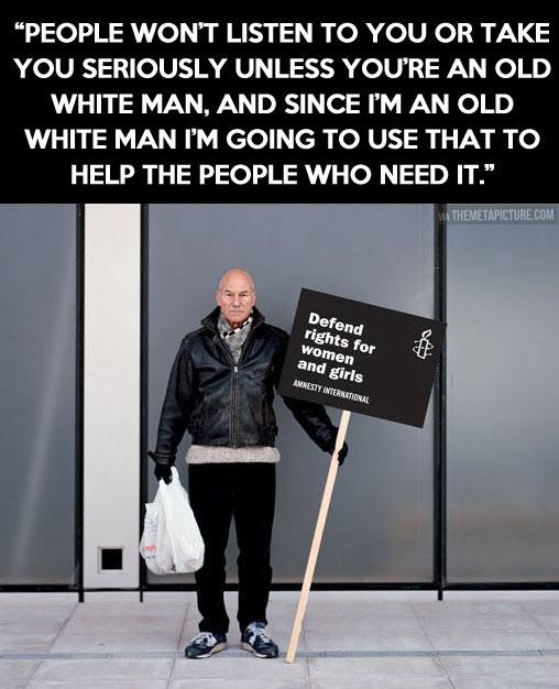 Patrick Stewart is a real life super hero.