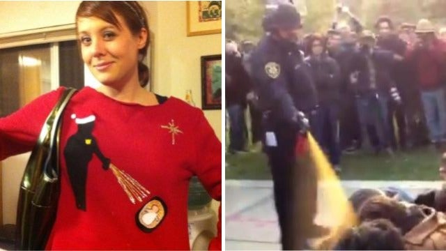 Today in Hot Holiday Styles: The 'Pepper-Spray Cop Meets Baby Jesus' Xmas Sweater