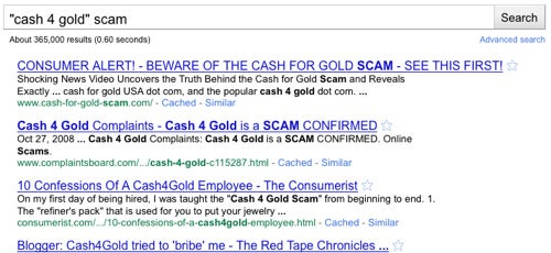 "Add ""Scam"" to Your Searches When Checking out a Business, Product, or Web Site"