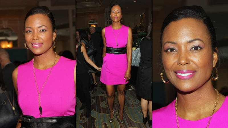 Aisha Tyler Pops In Pink (Plus, That Lipstick. Hello.)