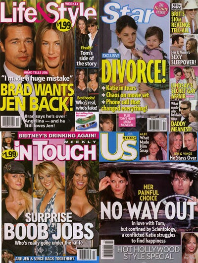TomKat In Trouble, The Attack Of The Bloated Boobs, And Jennifer Aniston's Love Life