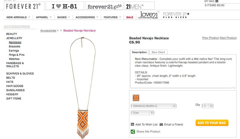Forever 21 Didn't Get The Navajo Memo