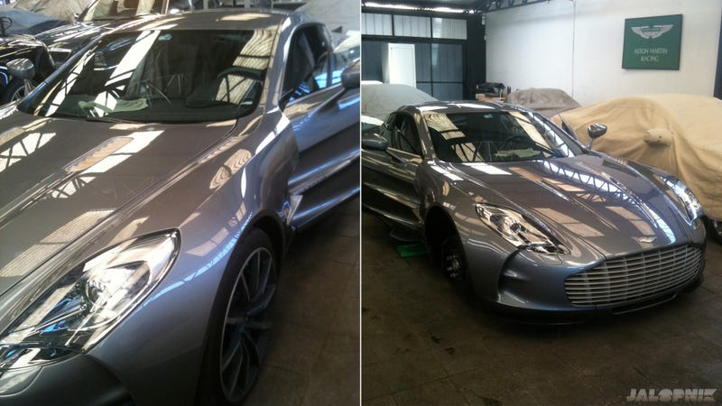 This Is What A $1.7 Million Aston Martin One-77 Looks Like In The Shop