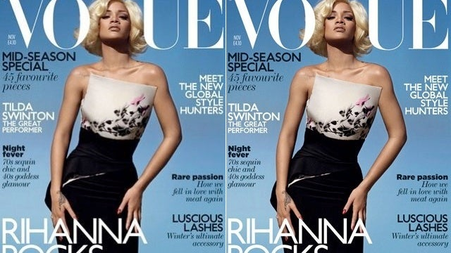 Rihanna Sure Looks Pale On Her New Vogue Cover