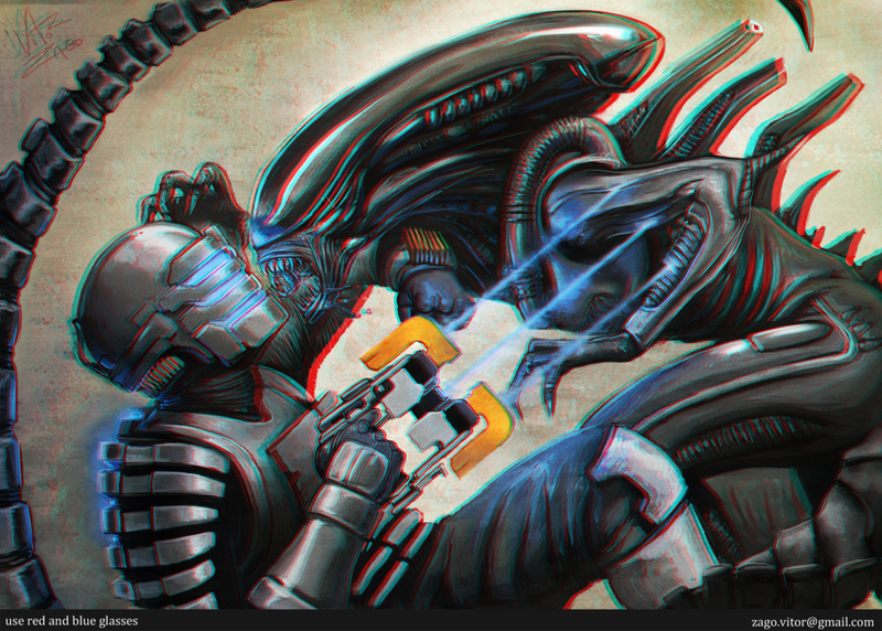 Alien Vs. Dead Space — In 3D