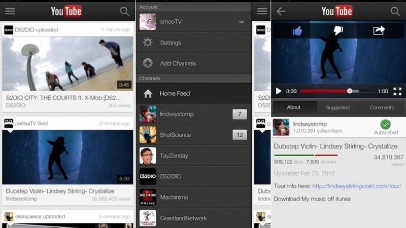 YouTube iOS App Now Beams Video to Your TV