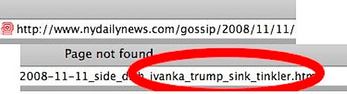 Daily News Taking The Piss Out Of Ivanka?